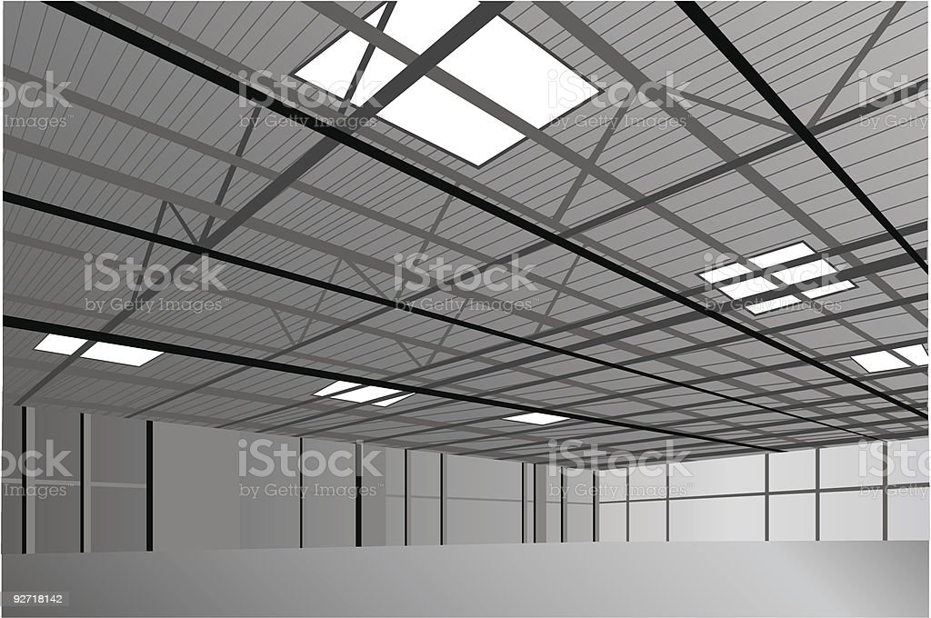 hangar vector art illustration