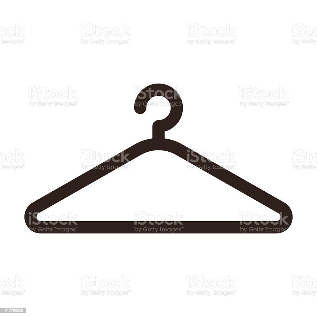 Hanger icon vector art illustration