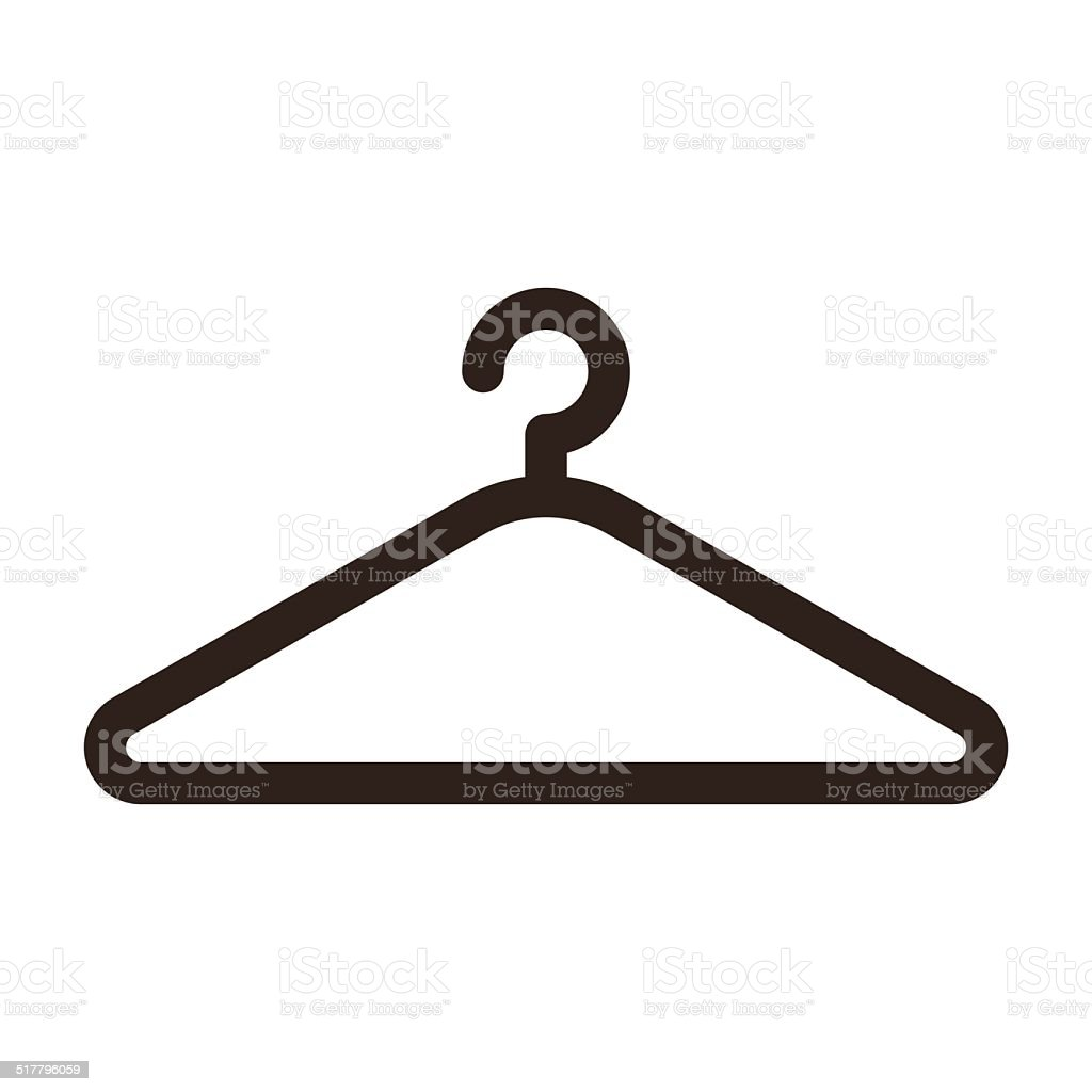 Hanger icon vector art illustration