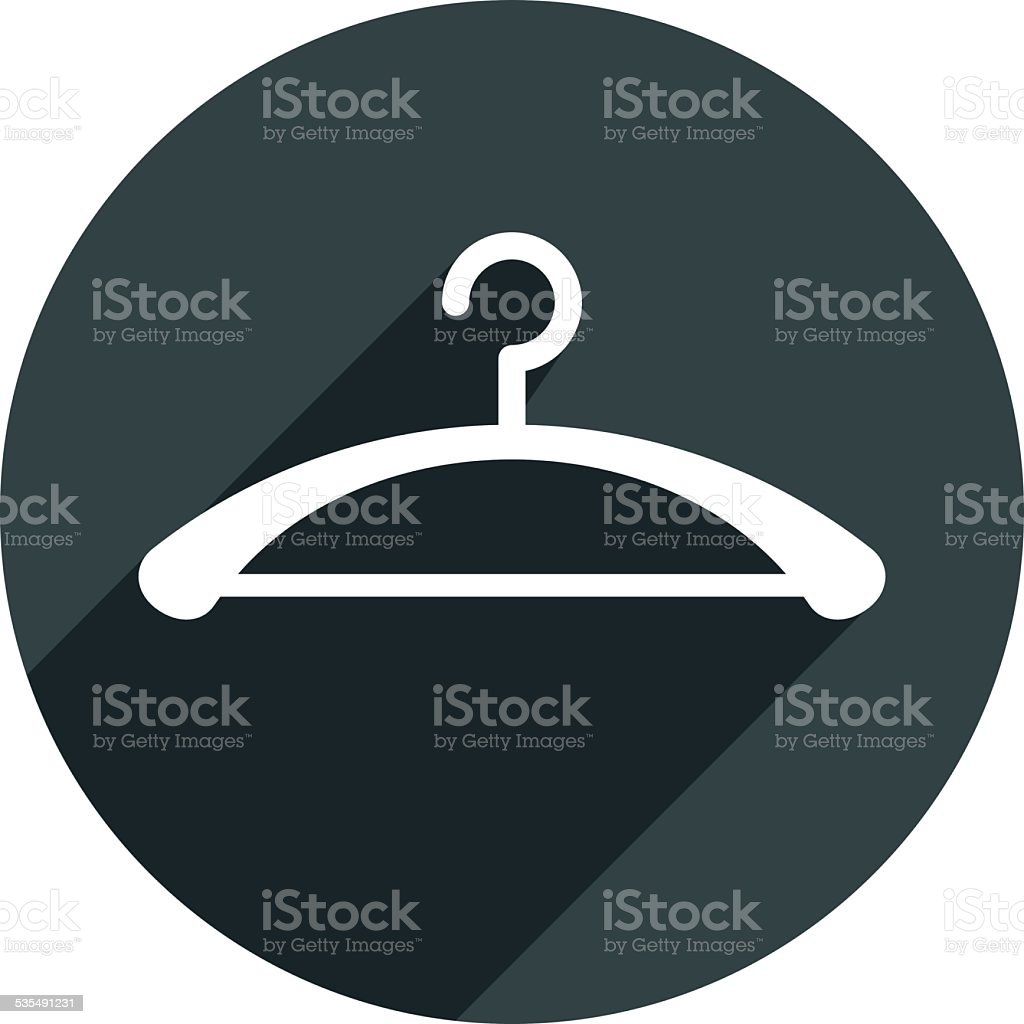 Hanger vector icon isolated. vector art illustration