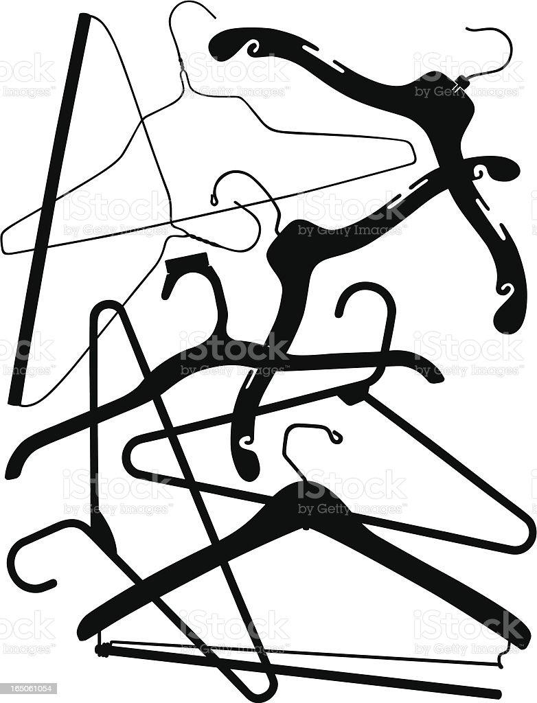 Hangers royalty-free stock vector art