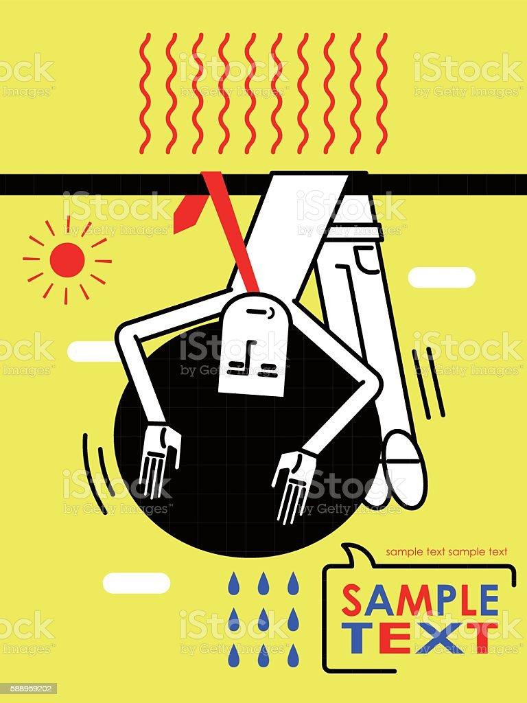 Hanging Afro Cool Businessman Illustracion Libre de Derechos ...