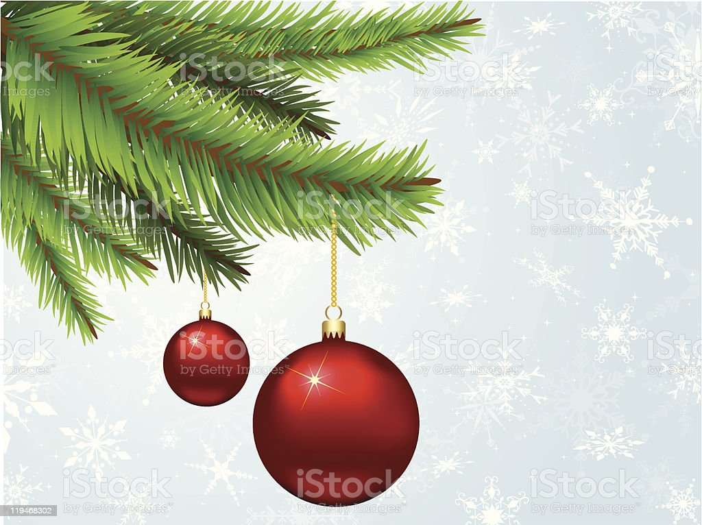 Hanging baubles royalty-free stock vector art