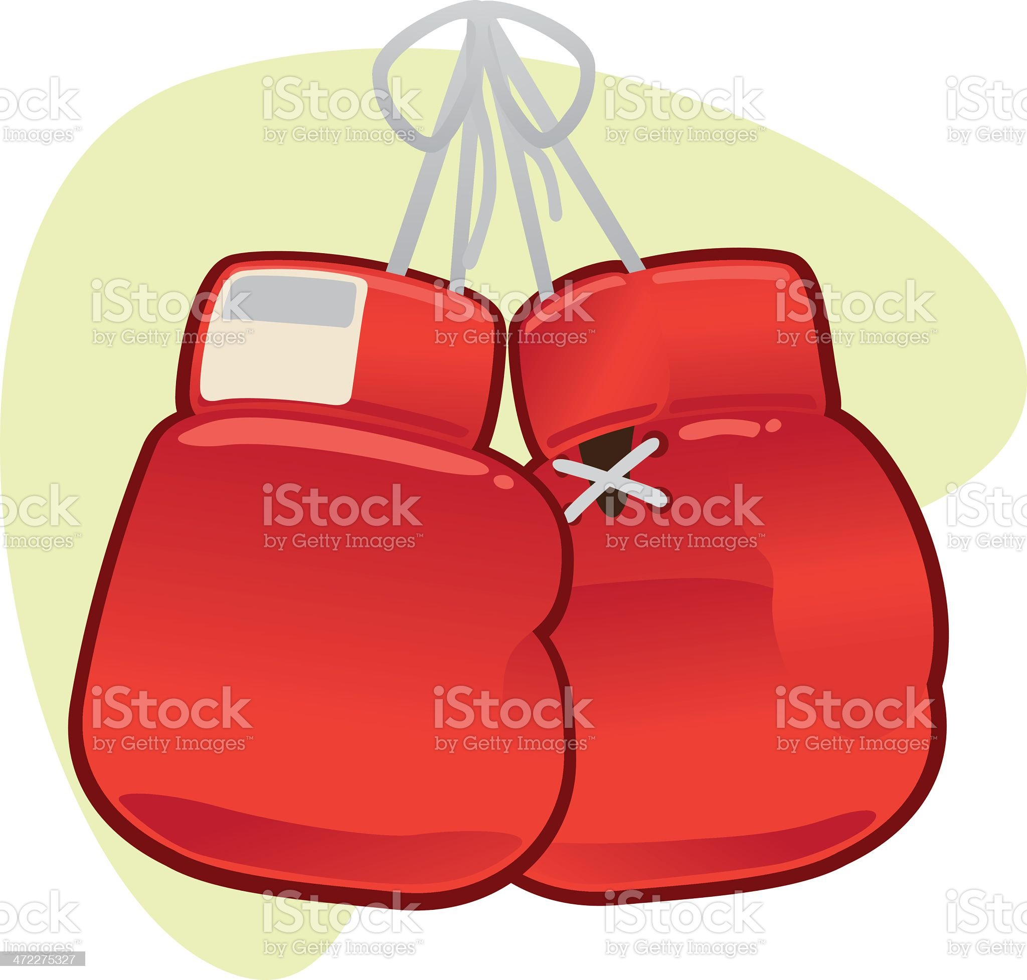 Hanging Boxing Gloves royalty-free stock vector art