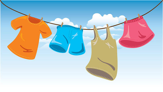 clipart hanging clothes - photo #5