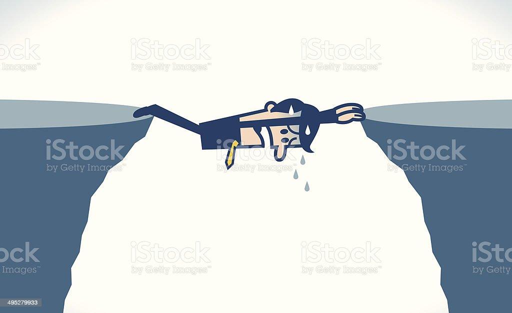Hanging man vector art illustration