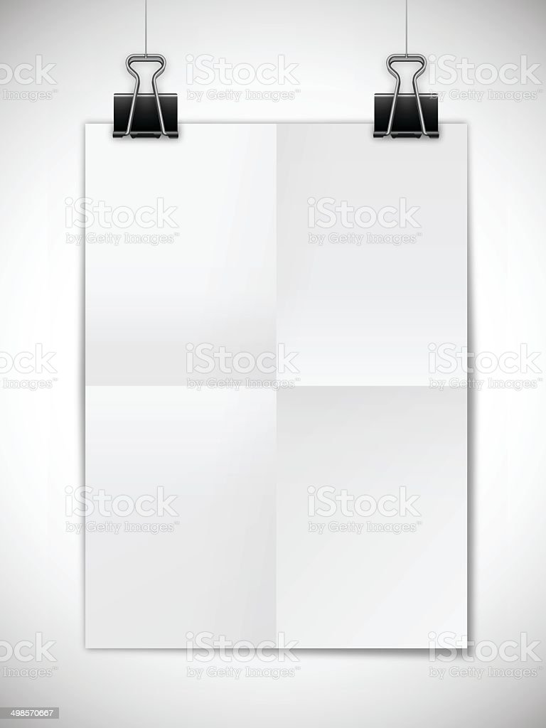 Hanging Poster Template royalty-free stock vector art