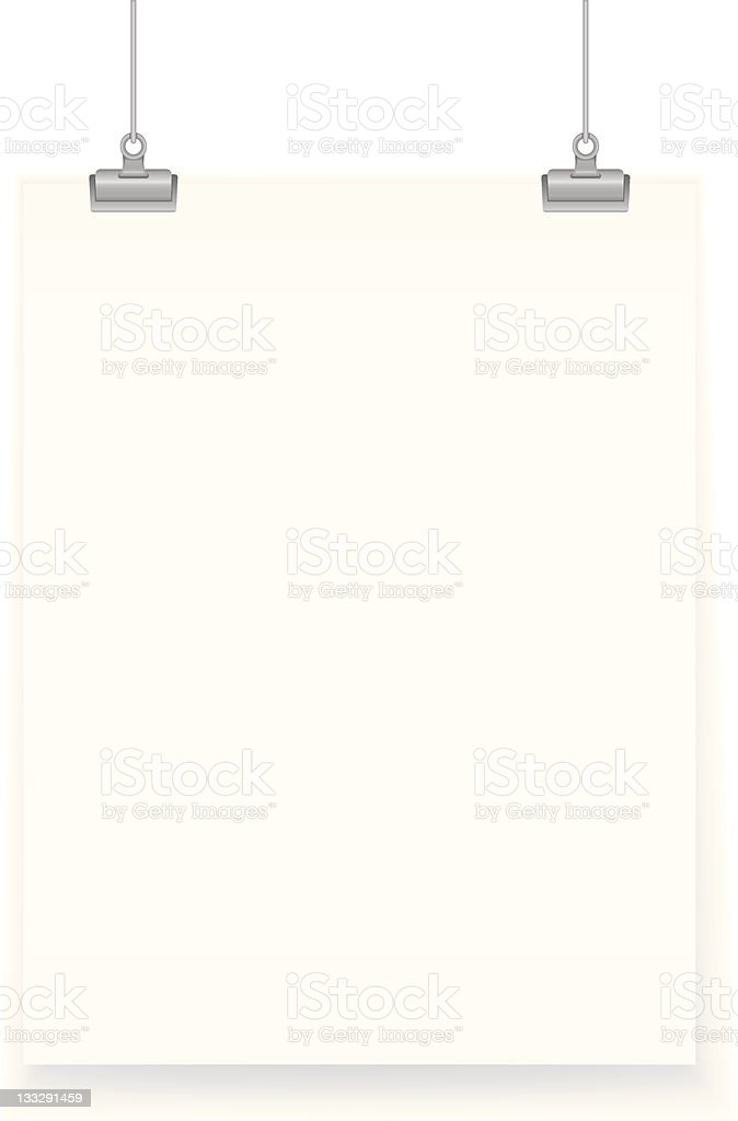 Hanging Poster royalty-free stock vector art