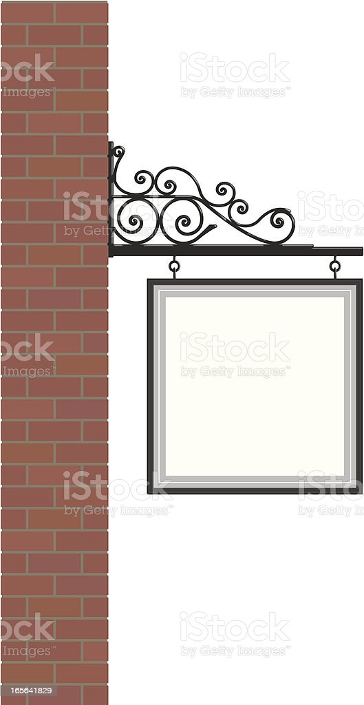 Hanging sign royalty-free stock vector art