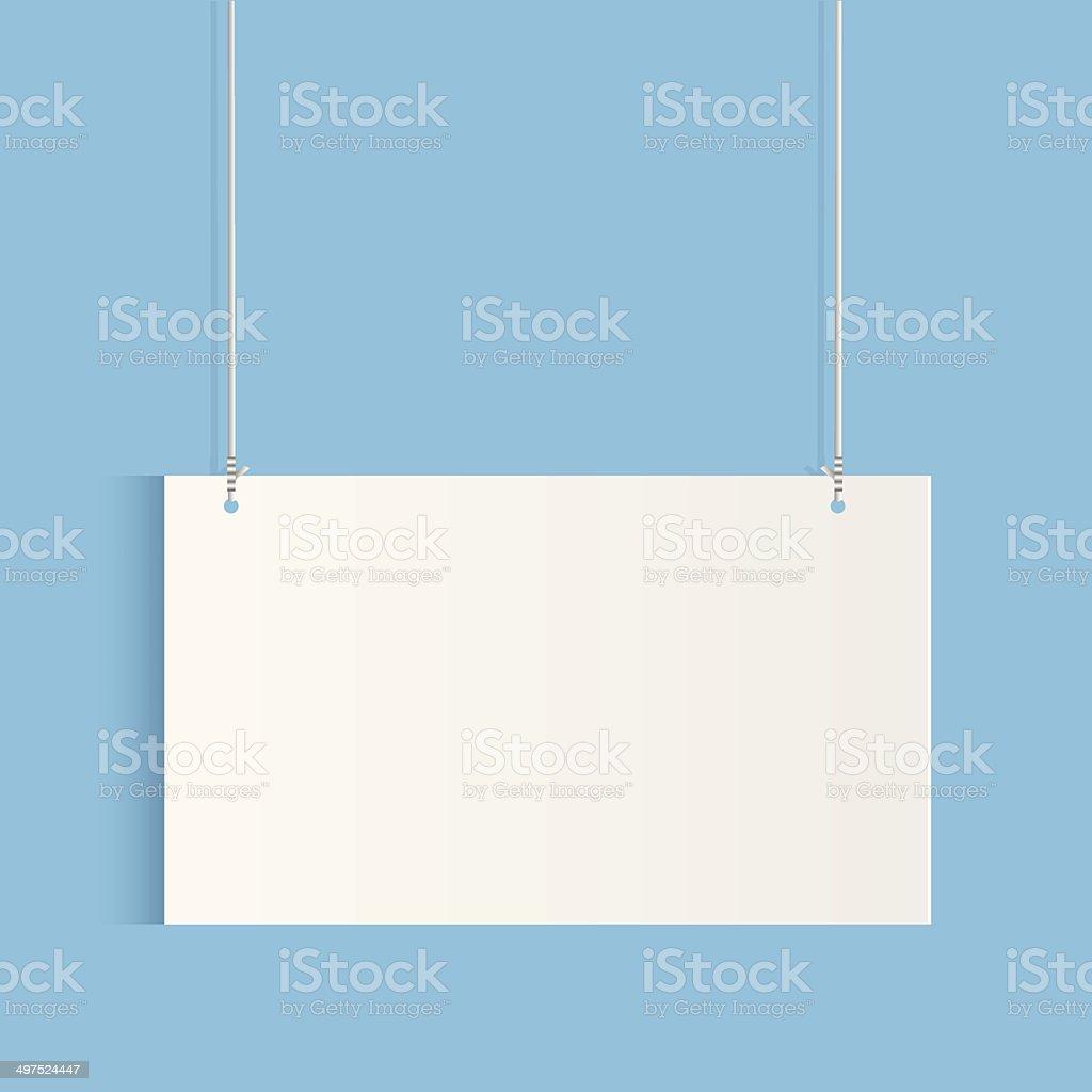 Hanging Sign vector art illustration