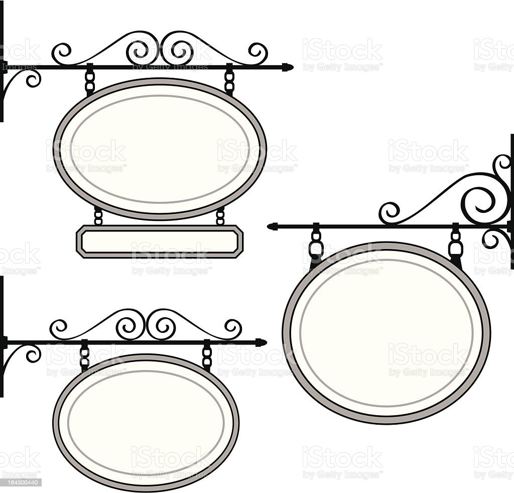 Hanging Signs royalty-free stock vector art