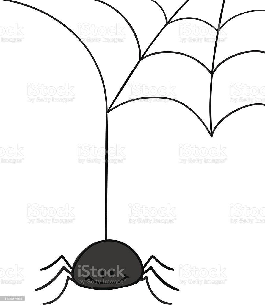 Hanging Spider royalty-free stock vector art
