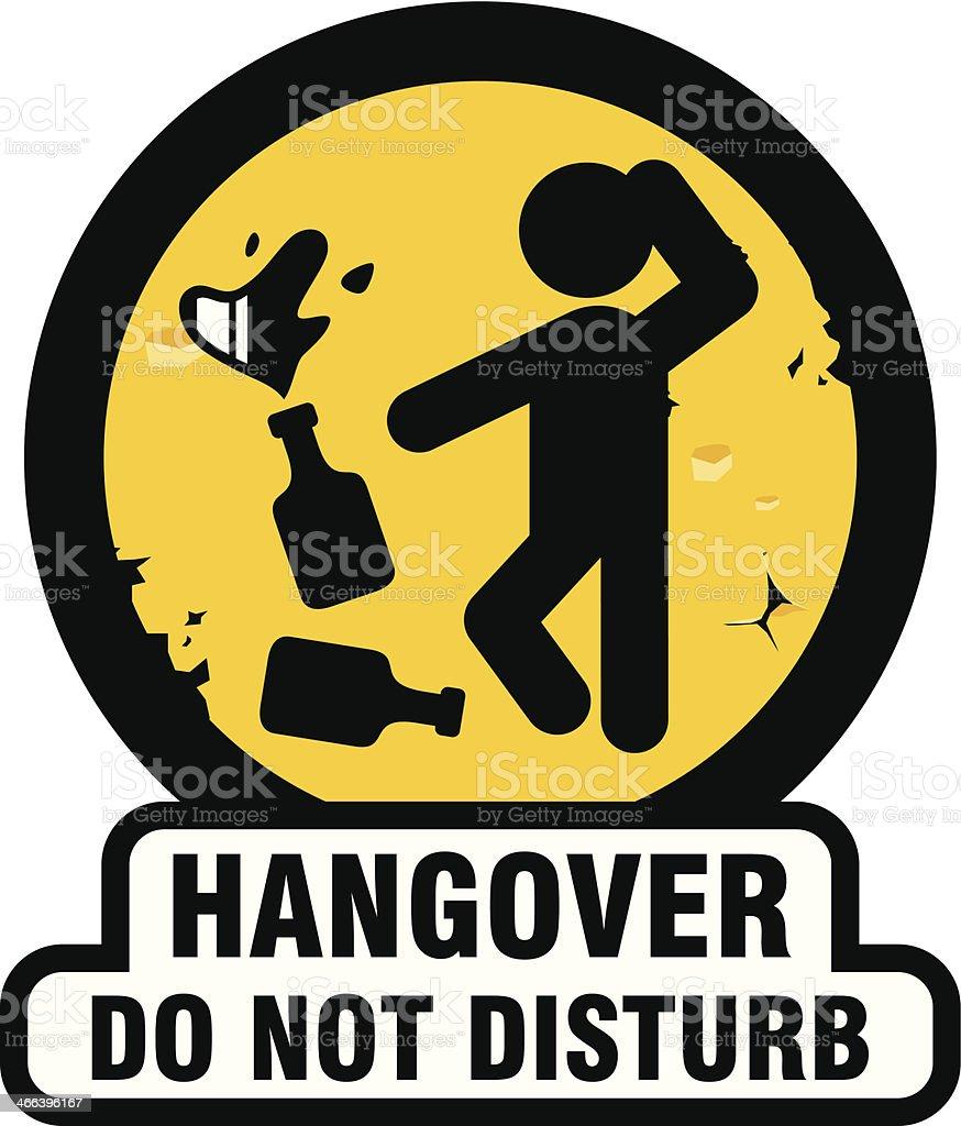 Hangover symbol vector art illustration