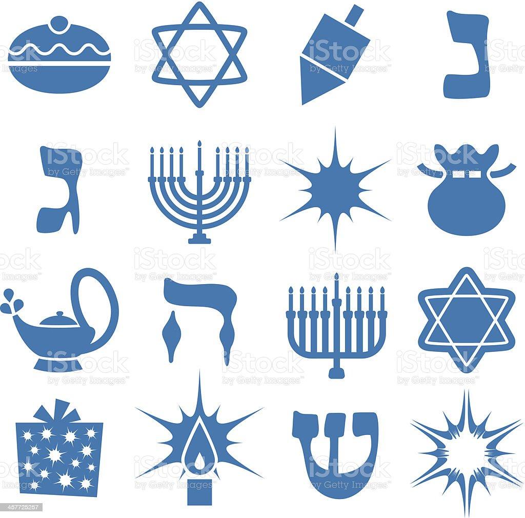 Hannukah - Icons Set vector art illustration