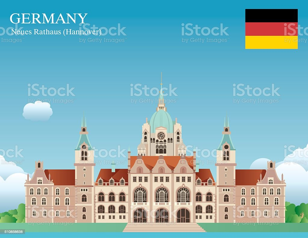 Hannover vector art illustration