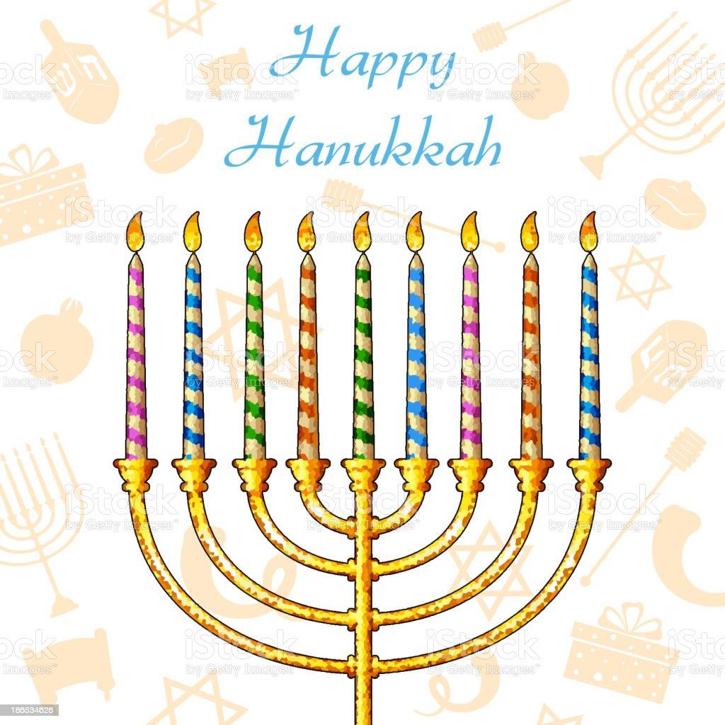 Hanukkah Background royalty-free stock vector art