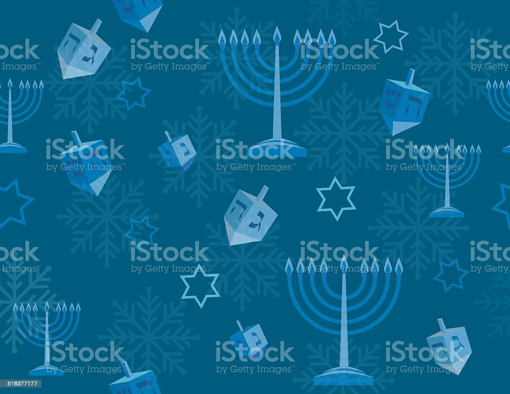 Hanukkah background vector art illustration