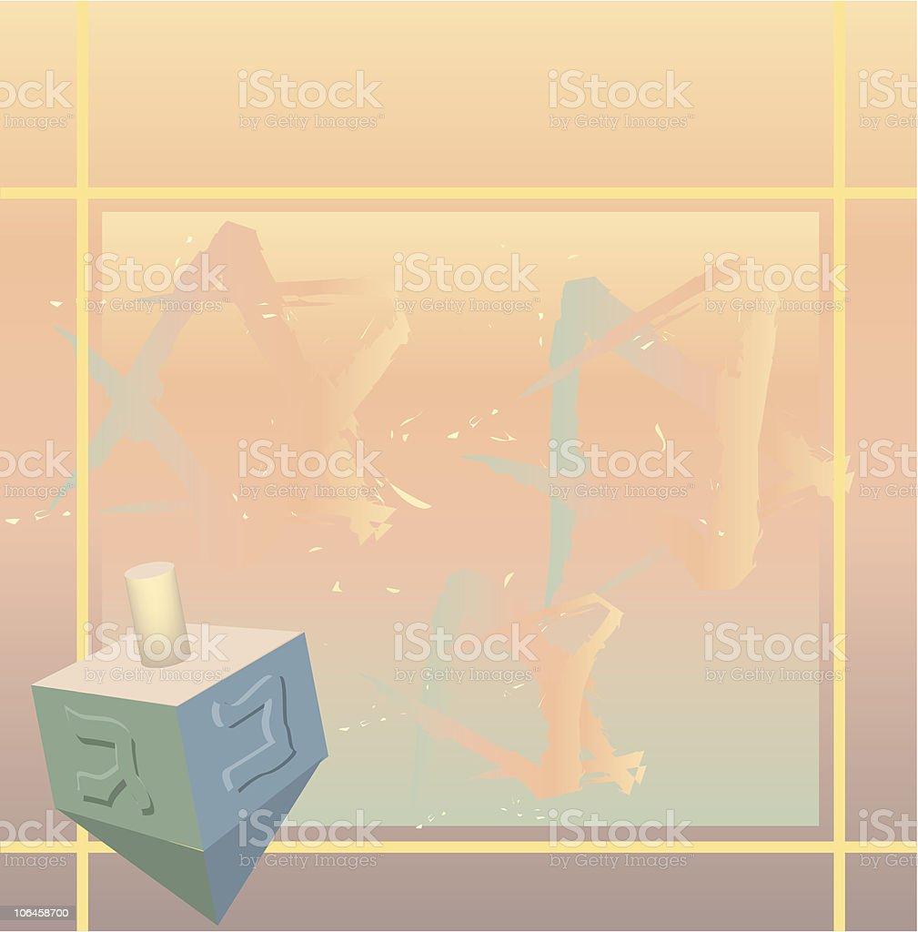 Hanukkah background with dreidel royalty-free stock vector art