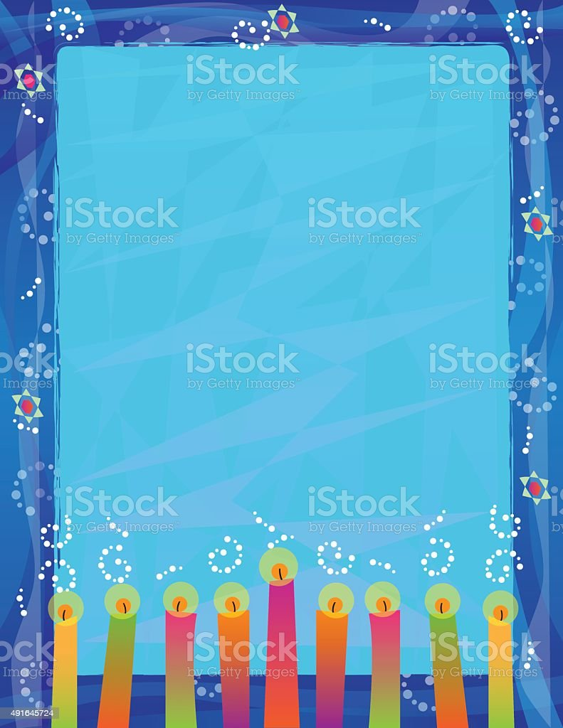 Hanukkah Blank Sign vector art illustration