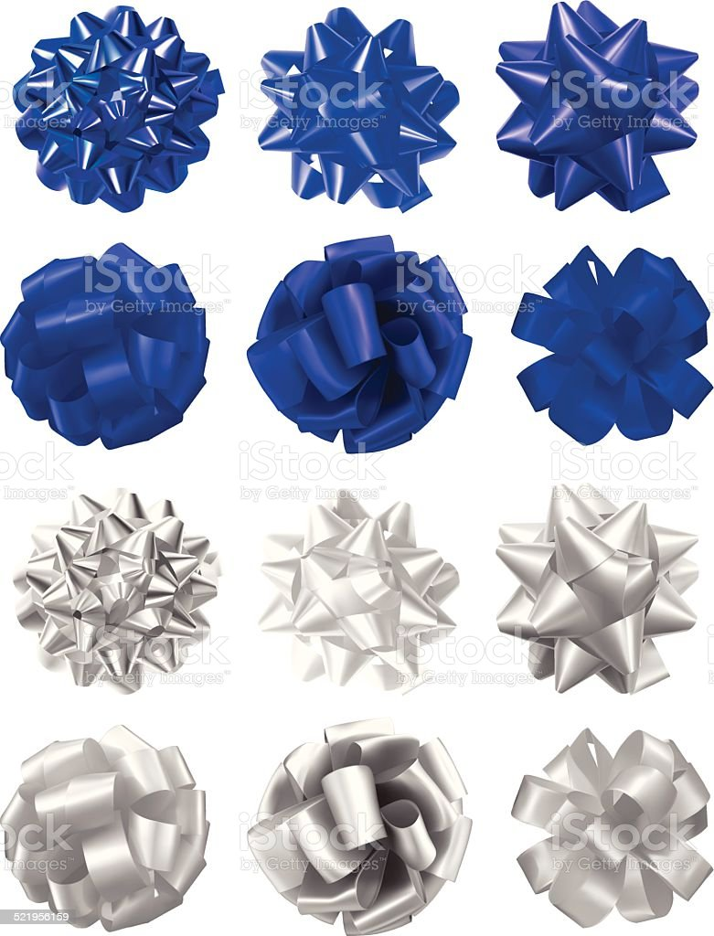Hanukkah Bow Collection vector art illustration