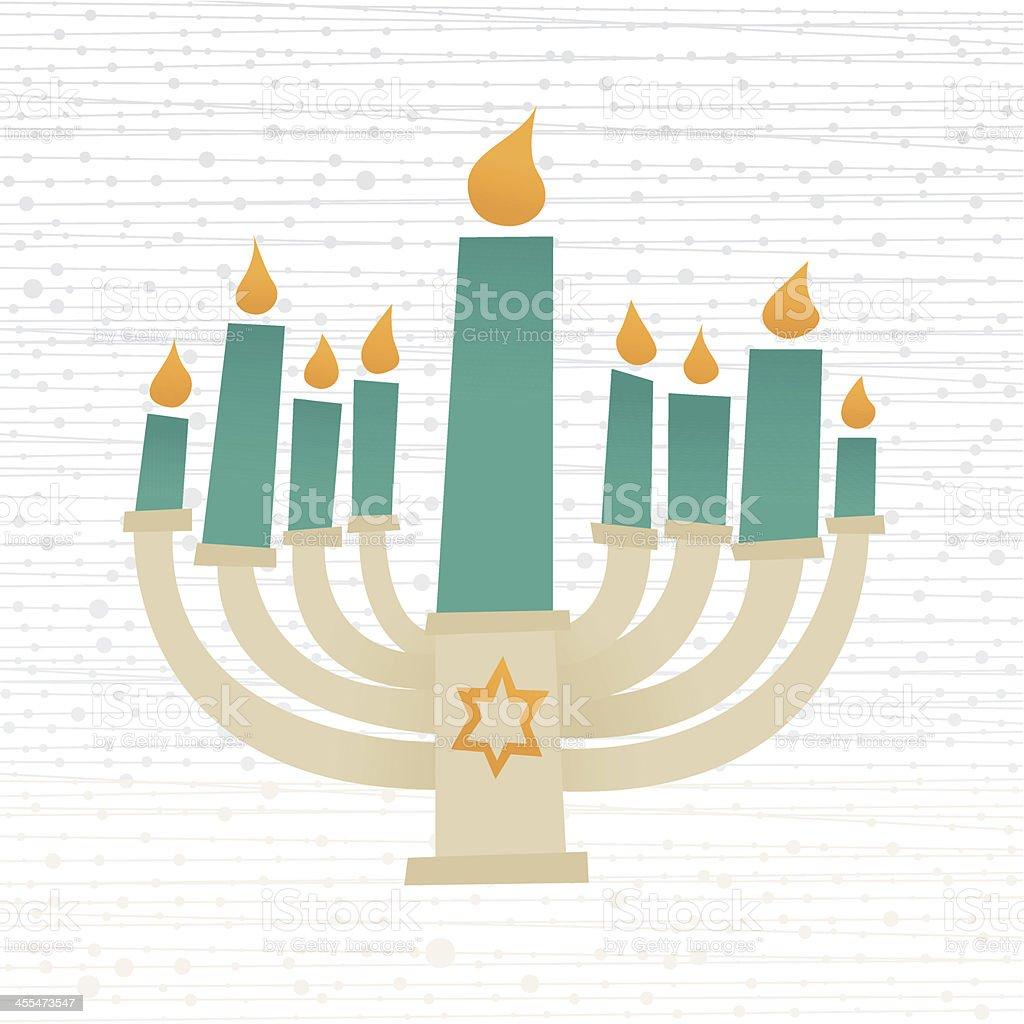 Hanukkah Candelabrum vector art illustration