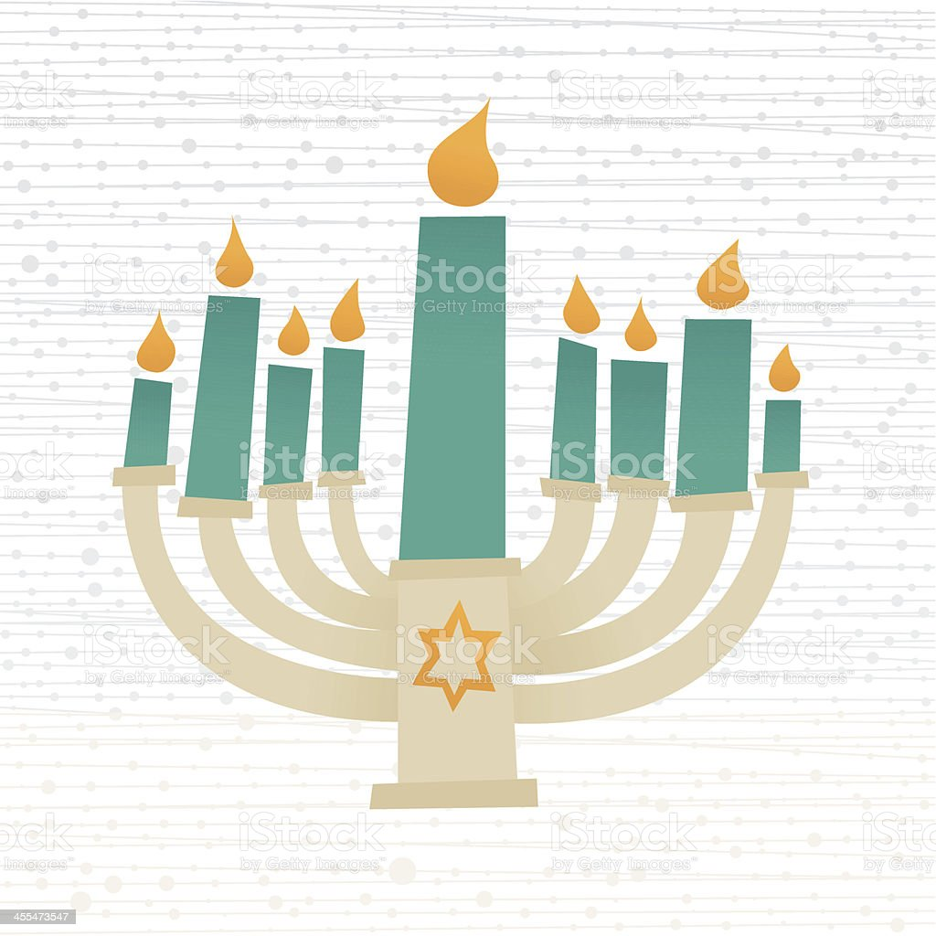 Hanukkah Candelabrum vector art illustration