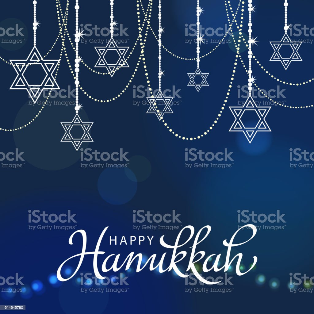 Hanukkah Decorations vector art illustration