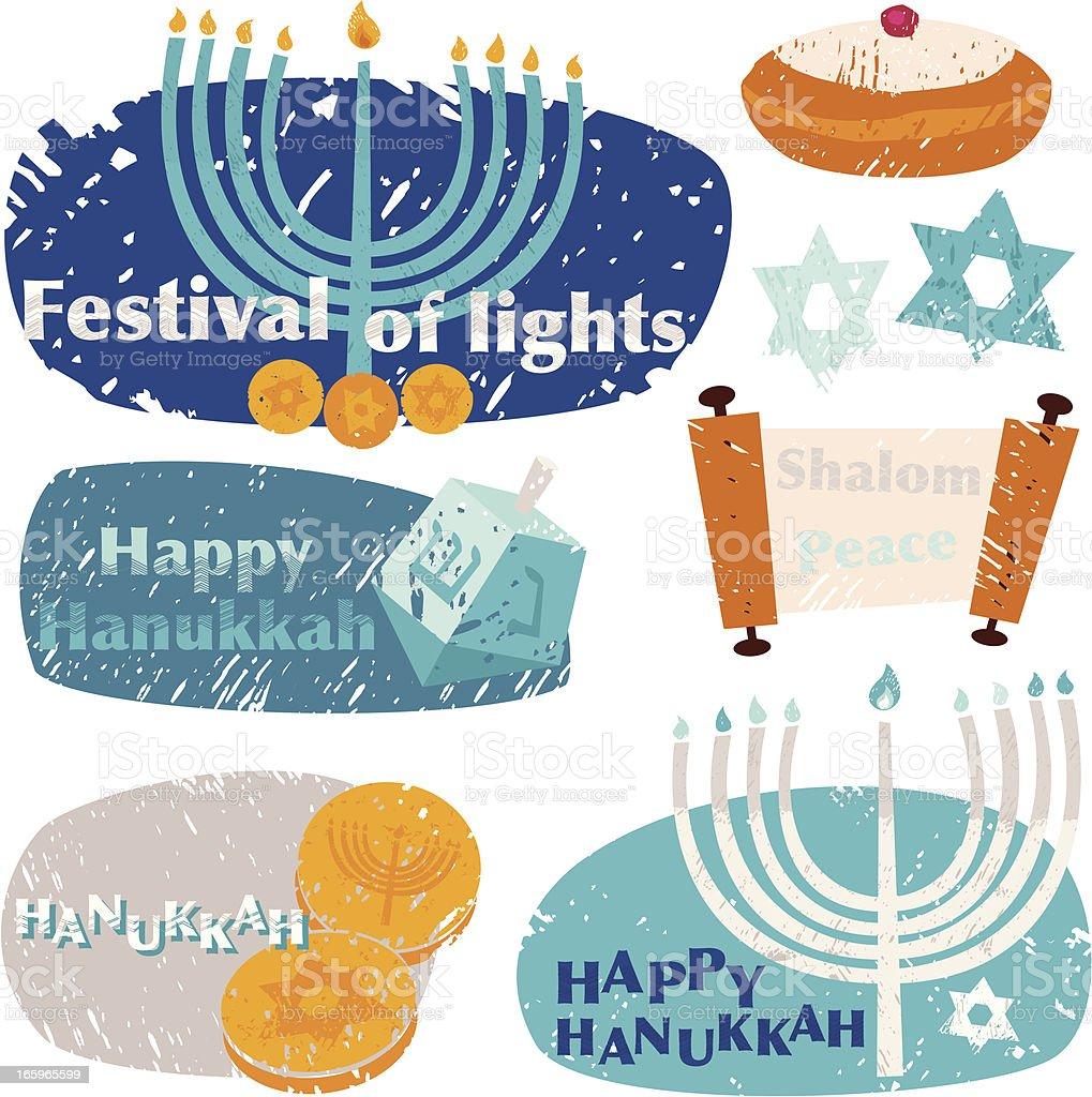 Hanukkah Design Elements royalty-free stock vector art