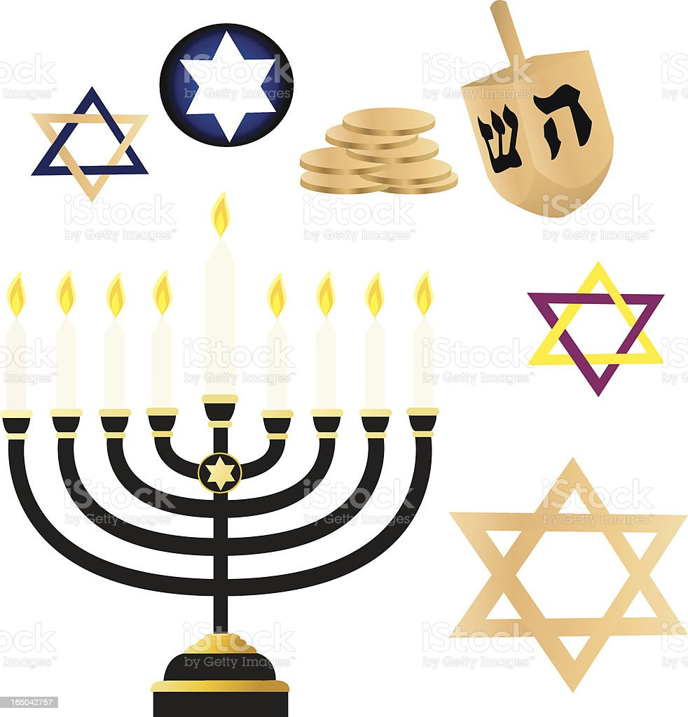 Hanukkah Goodies royalty-free stock vector art