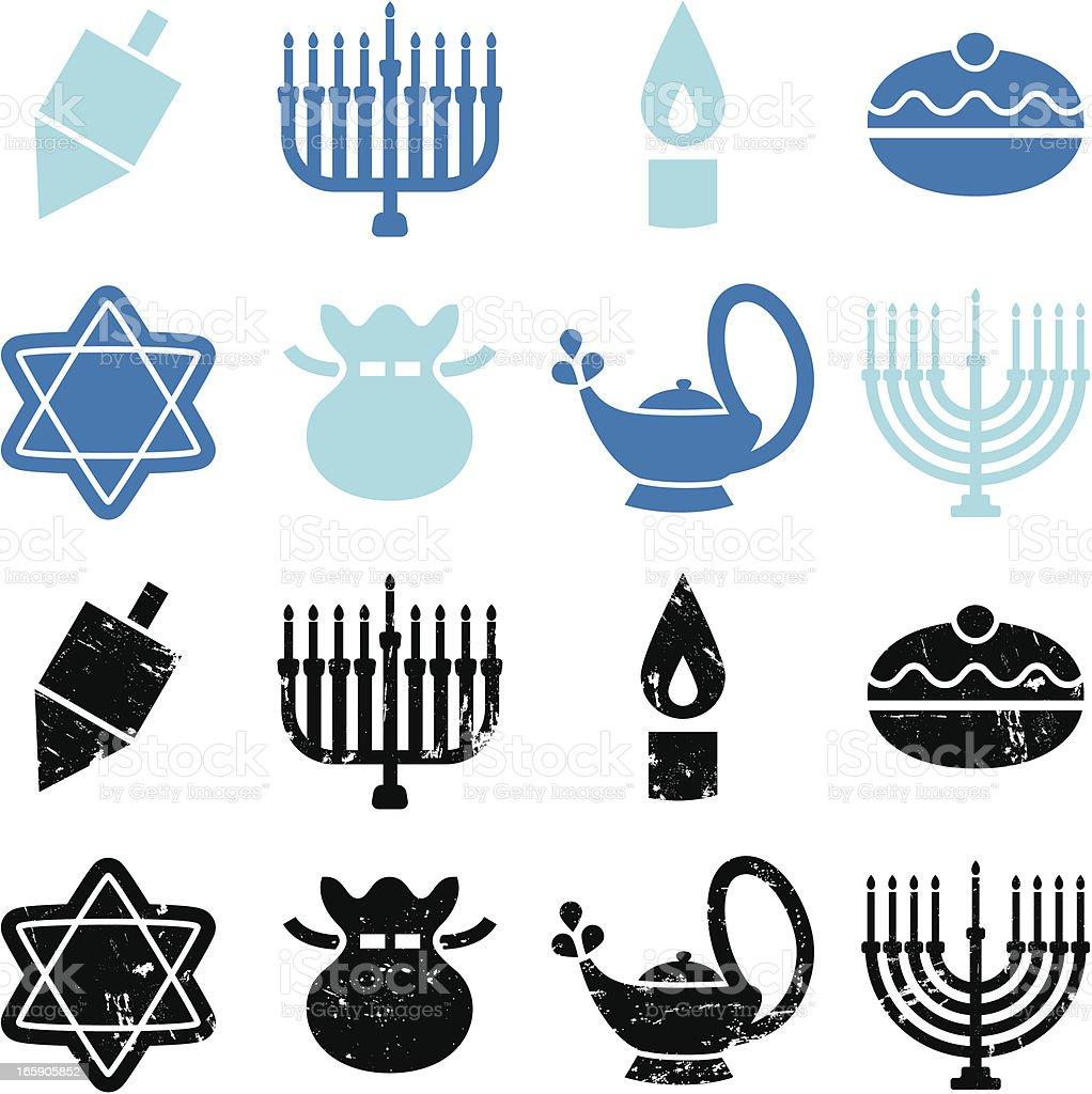Hanukkah Icons royalty-free stock vector art