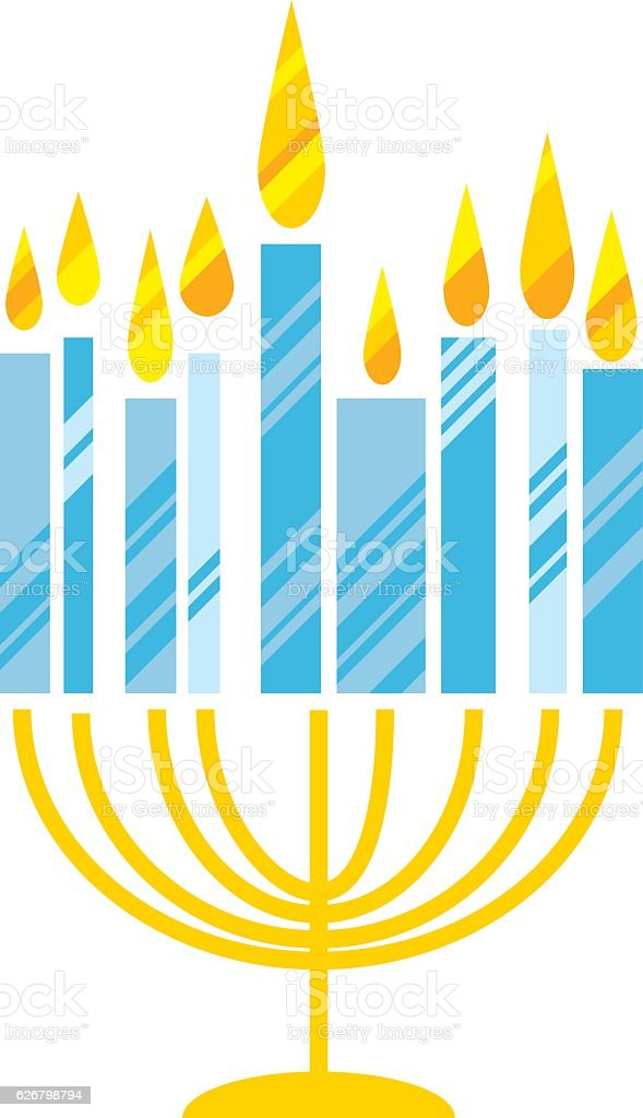 hanukkah menora vector illustration. Juish menora simple vector vector art illustration