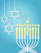 Hanukkah Menorah and Star Of David