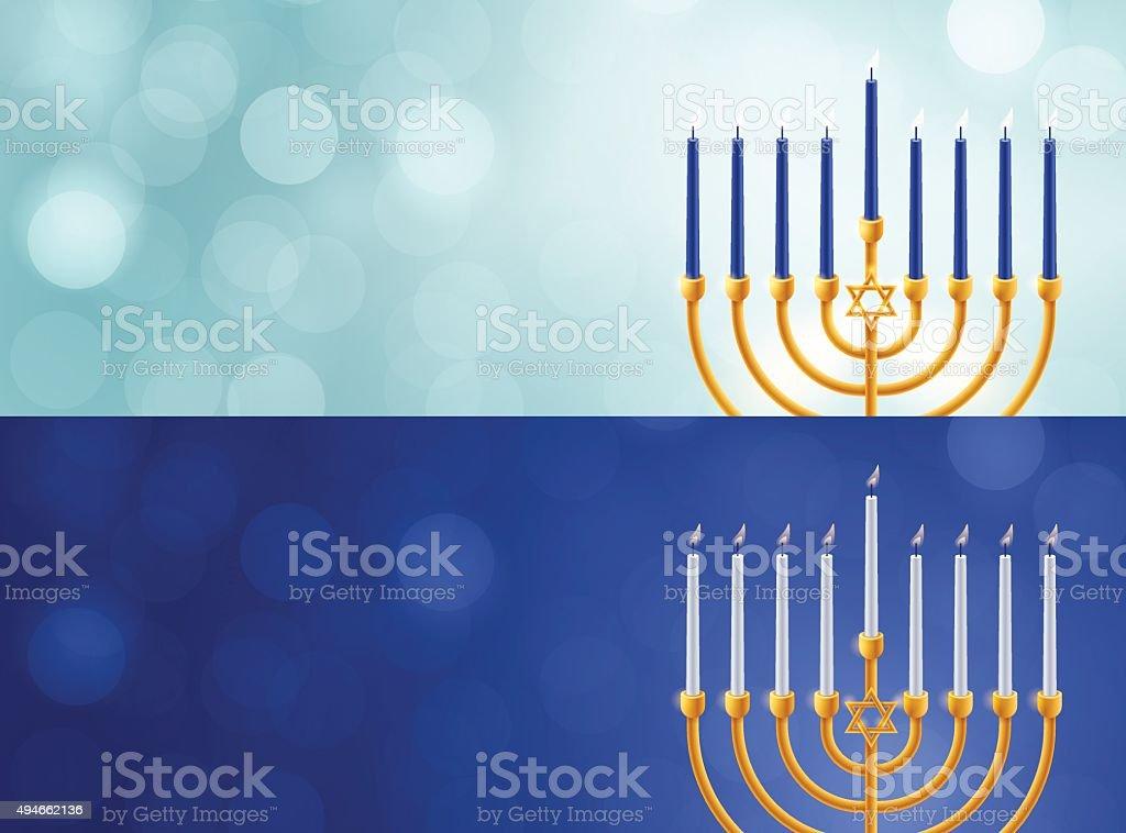 Hanukkah Menorah Backgrounds vector art illustration