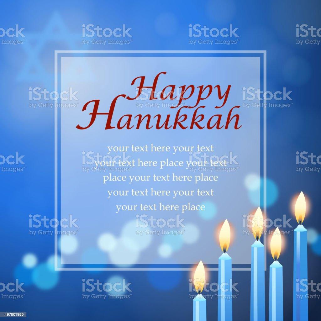 Hanukkah menorah message vector art illustration