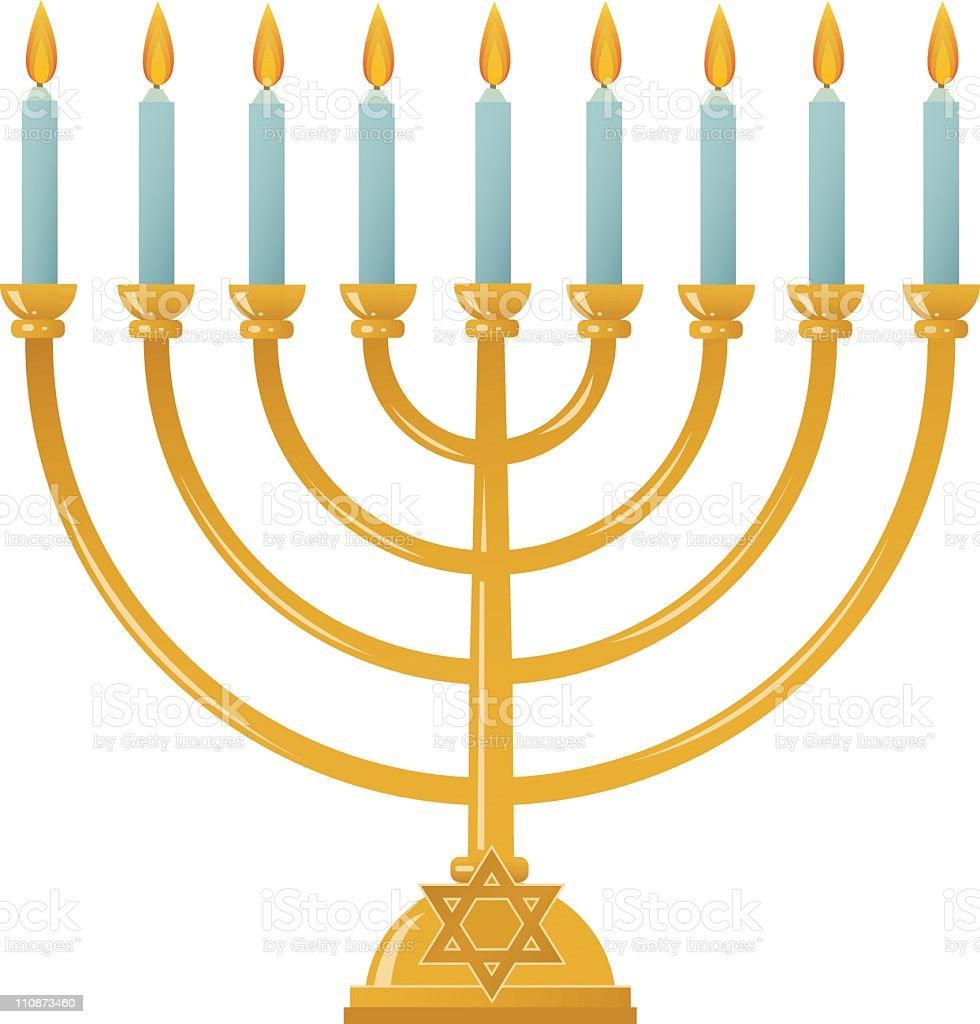 Hanukkah Menorah vector art illustration