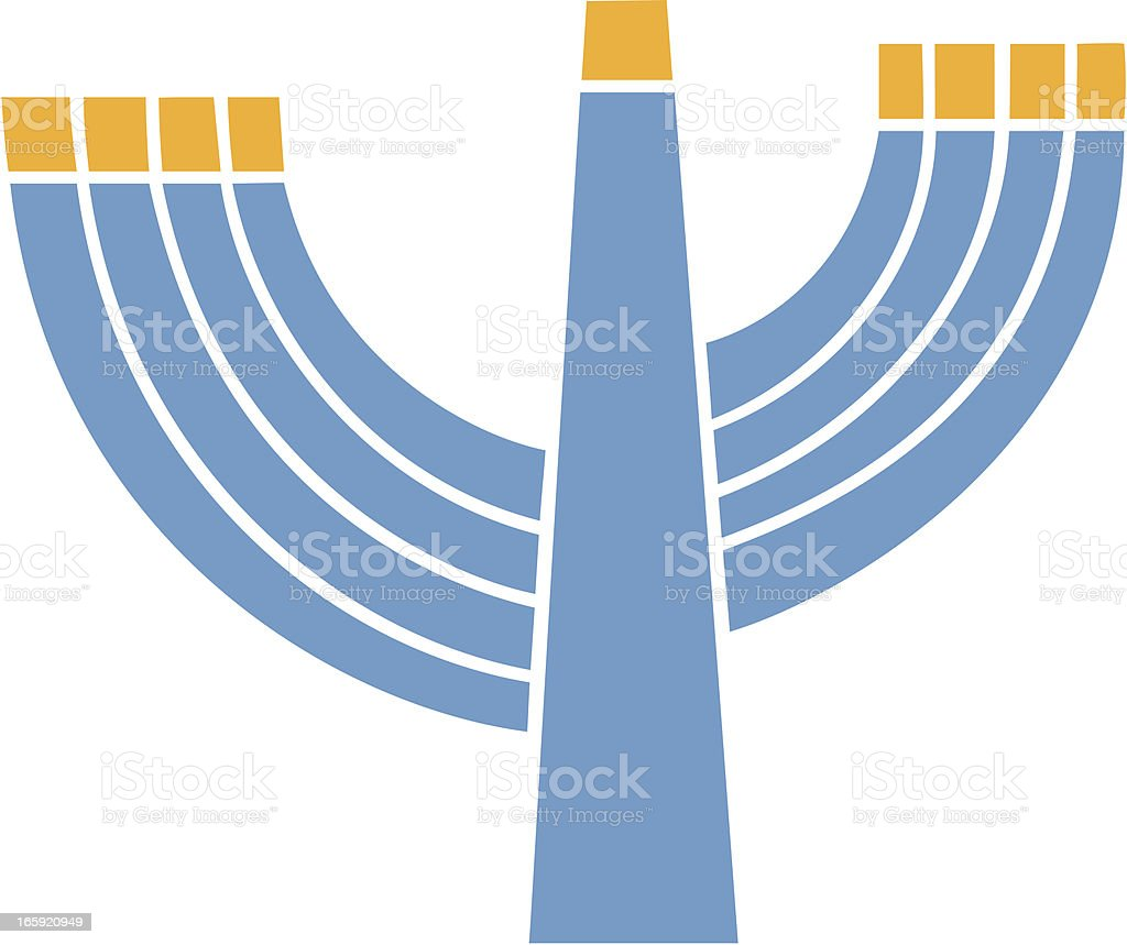 Hanukkah Menorah royalty-free stock vector art