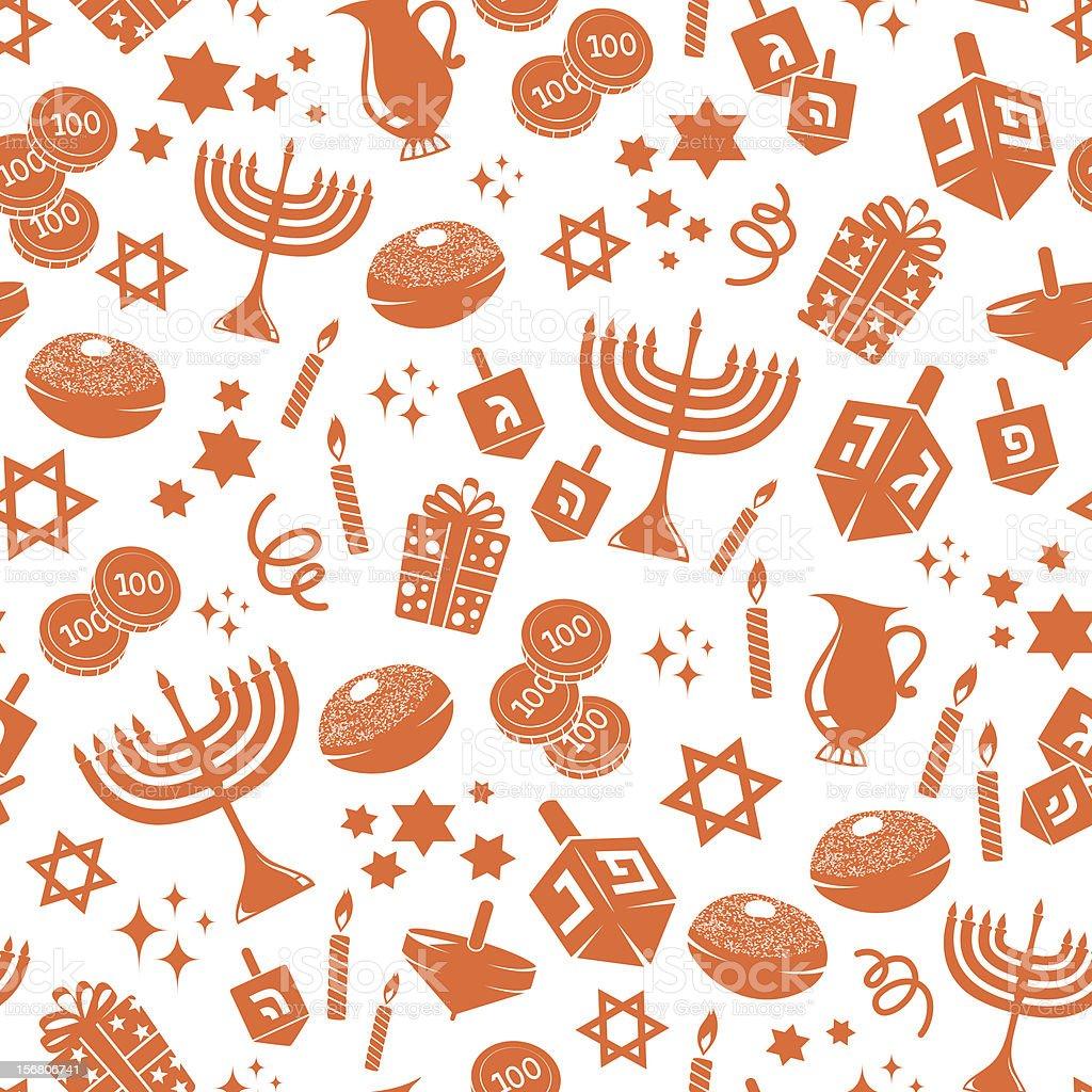 hanukkah pattern vector art illustration