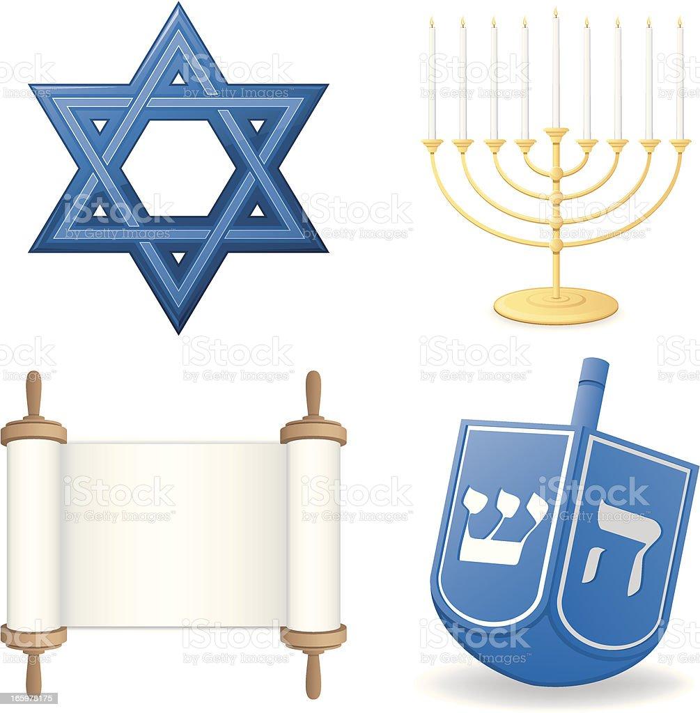 Hanukkah Set royalty-free stock vector art