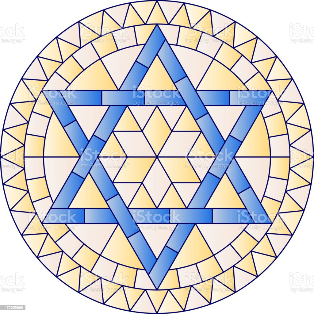 Hanukkah Stained Glass royalty-free stock vector art