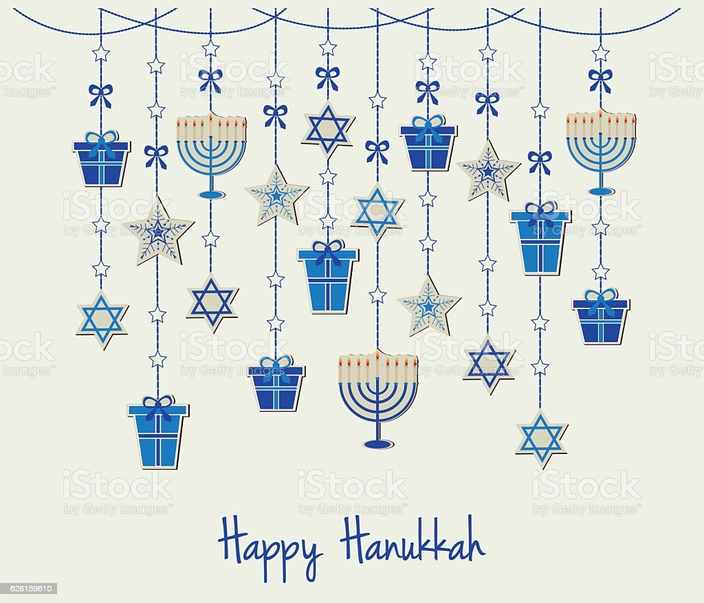 Hanukkah vector art illustration