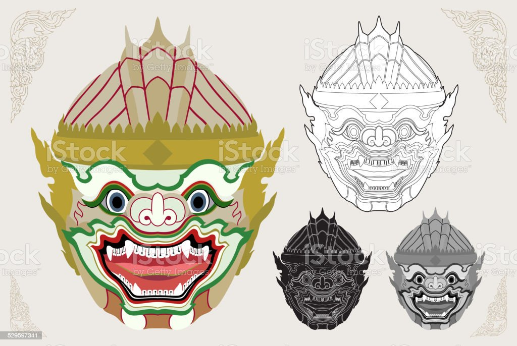 Hanuman head vector illustration vector art illustration