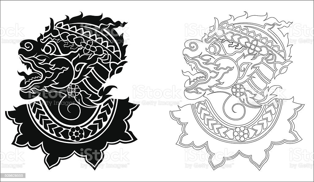 hanuman silhouetted on white background vector art illustration