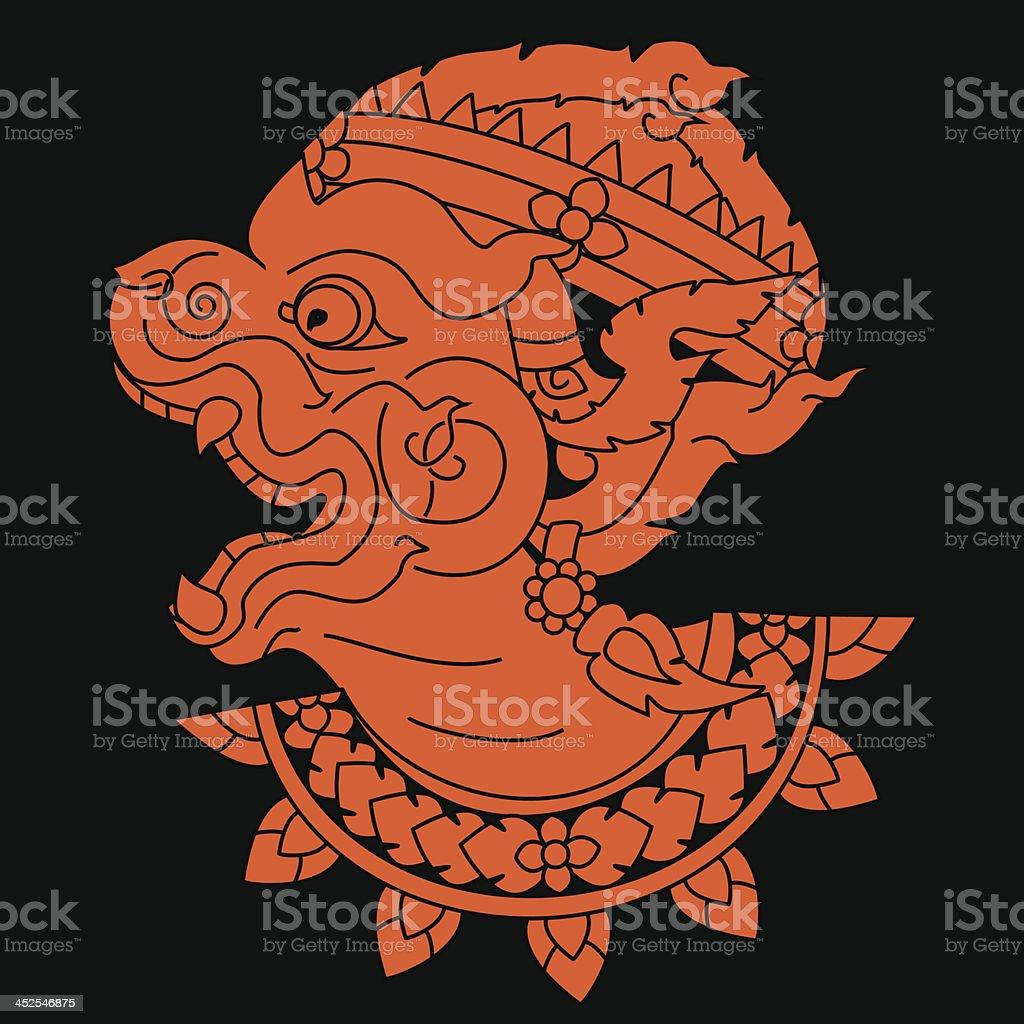 Hanuman. vector art illustration