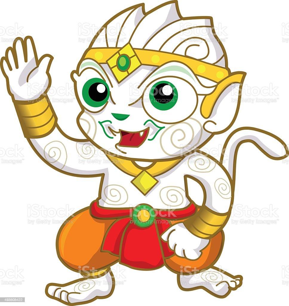 Hanuman vector art illustration