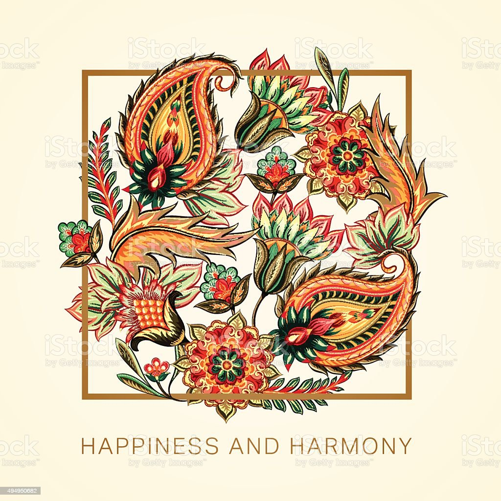 Happiness and harmony vector art illustration