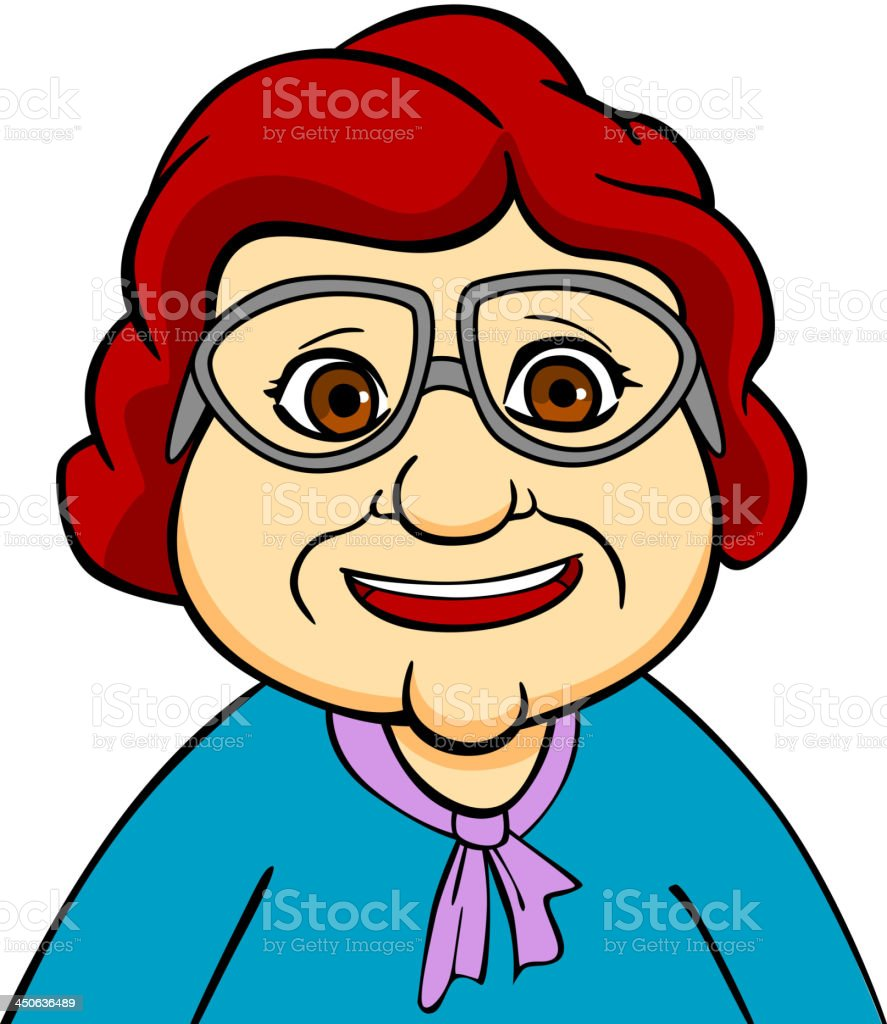 Happiness grandmother royalty-free stock vector art
