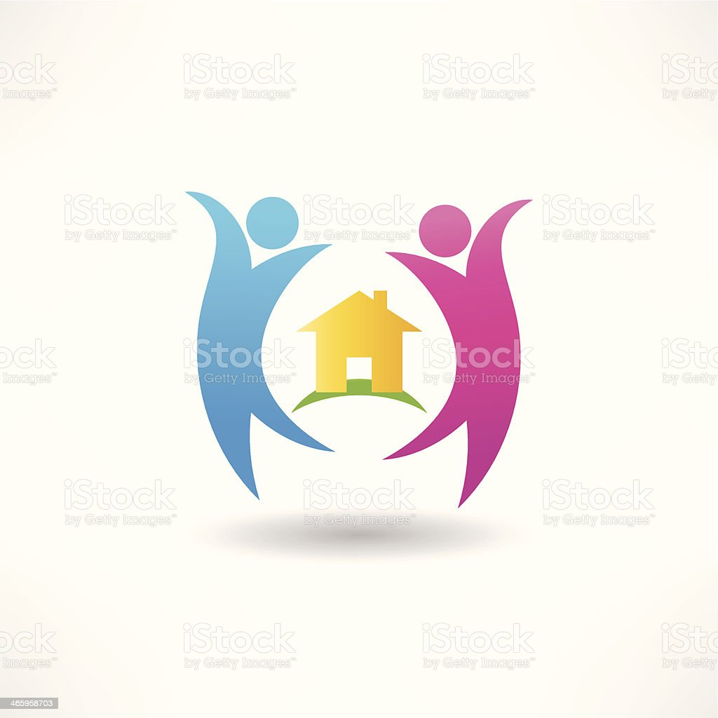 happiness in the house icon royalty-free stock vector art