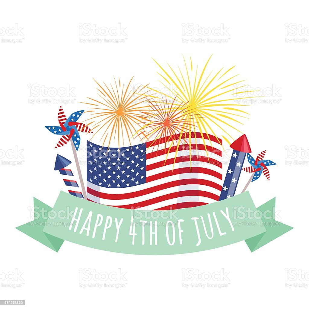 Happy 4th of July, Independence Day Vector Design, usa vector art illustration