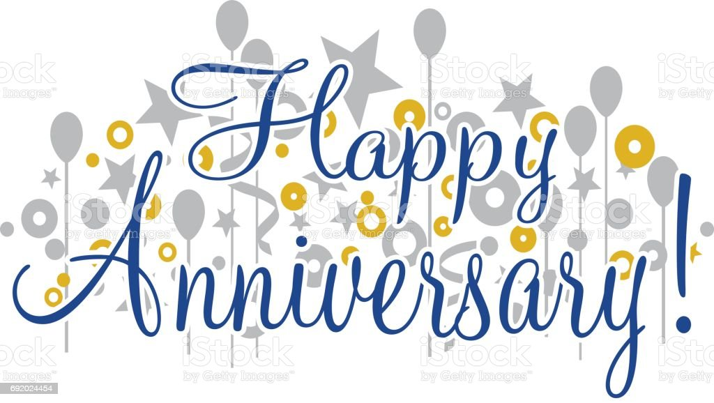 Happy Anniversary Banner vector art illustration