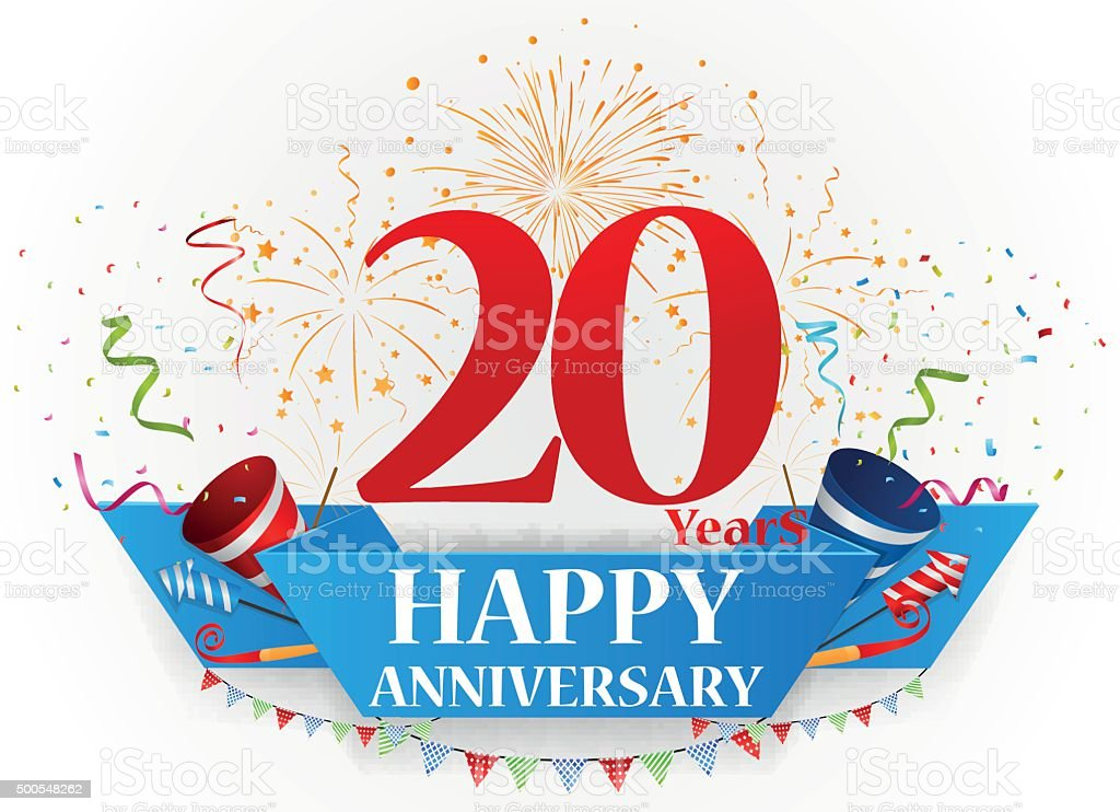 Happy anniversary celebration design vector art illustration